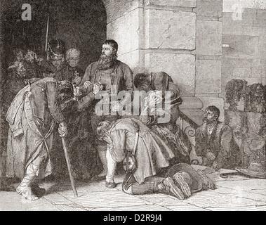 Andreas Hofer kurz vor seiner Hinrichtung. Andreas Hofer 1767-1810. Tiroler Wirt, Patriot und Anführer einer Rebellion. - Stockfoto