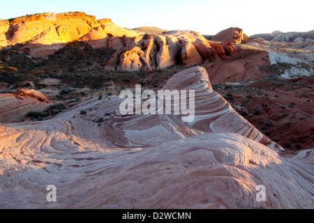 Sonnenuntergang über der Fire Wave, Valley Of Fire State Park, Nevada