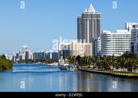 Hotels in Miami Beach von 41st Street, USA - Stockfoto