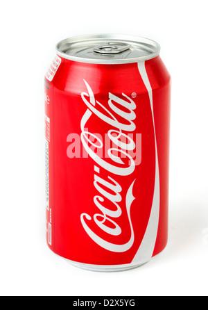 Dose Coca Cola Stockfoto