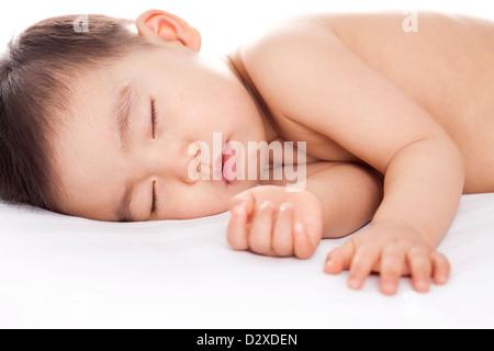 Schöne Baby junge im süßen Traum - Stockfoto