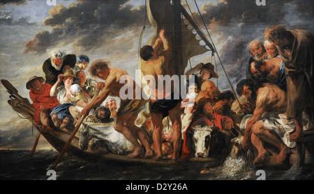 Jacob Jordaens (1593-1678). Flämischer Maler. St. Peter Tribut Geld oder die Fähre nach Antwerpen, 1623 zu finden. - Stockfoto