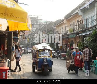 In einem Markt in Bangkoks Chinatown, Thailand Yaowaraj Bereich Verkehr - Stockfoto