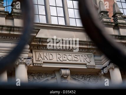 Grundbuchamt in Lincolns Inn Fields Holborn London UK - Stockfoto