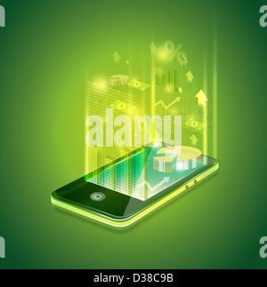 Anschauliches Bild des Handy für Business-Anwendungen - Stockfoto