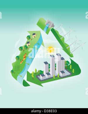 Anschauliches Bild vertreten grüne Konzept - Stockfoto