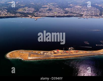 U.S. Coast Guard Air Station Port Angeles eine Luftaufnahme von der ältesten Air Station in der US-Küstenwache - Stockfoto