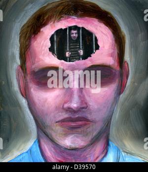 Abbildung des Gefangenen des Geistes - Stockfoto