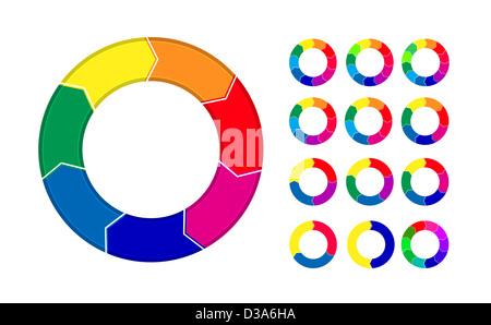 Prozess-Diagramme-Menü isoliert auf weißem Hintergrund - Stockfoto