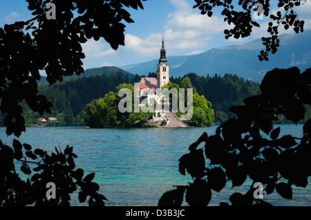 Lake Bled in Slowenien - Stockfoto