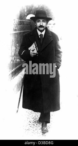(Dpa-Dateien) - deutsch-US-amerikanischer Physiker und Mathematiker Albert Einstein in Deutschland, 1920. Er wurde - Stockfoto