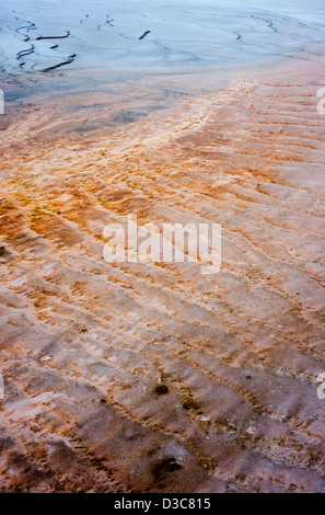 Detail des Bereichs Grand Bildobjekte Frühling Geothermie im Yellowstone-Nationalpark, Wyoming, USA - Stockfoto