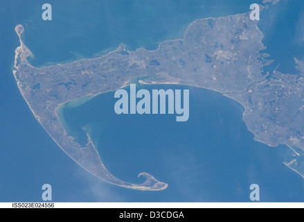 Cape Cod, Massachusetts (NASA, internationale Raumstation Wissenschaft, 14.03.10) - Stockfoto