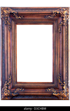 antik look gold farbe bilderrahmen isoliert auf weiss stockfoto bild 51755419 alamy. Black Bedroom Furniture Sets. Home Design Ideas