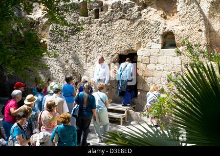 Das Grab im Garten (auch bekannt als Gordons Kalvarienberg), befindet sich in Jerusalem, außerhalb der Stadtmauern - Stockfoto