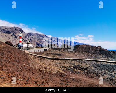 Leuchtturm in Punta Teno, Teneriffa, Kanarische Inseln, Spanien - Stockfoto