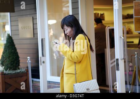 Maasmechelen Village shopping-Dorf Designer outlets - Stockfoto