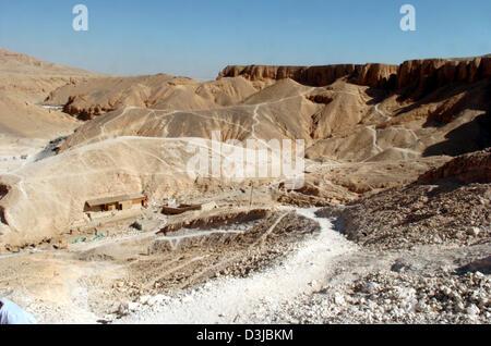 (Dpa-Dateien) - Blick auf das Tal der Könige, der traditionellen Begräbnisstätte der ägyptischen Pharaonen befindet - Stockfoto
