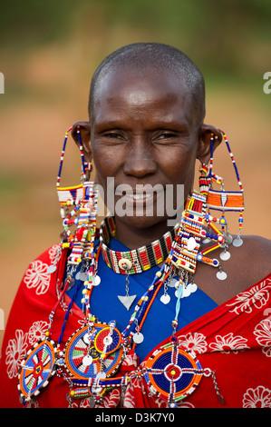 Massai Frau, Selenkay Conservancy, Kenia - Stockfoto