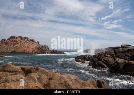 Kanal-Felsen in der Nähe von Yallingup, Western Australia, Australien - Stockfoto