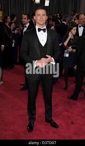 Hollywood, Kalifornien, USA 24. Februar 2013.  Schauspieler CHANNING TATUM kommt auf dem roten Teppich für die 2013 - Stockfoto