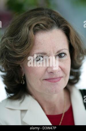 Das Foto zeigt Sue Harnett, US amerikanischen Bank-Manager und CEO der Citibank Deutschland fotografiert auf einer - Stockfoto
