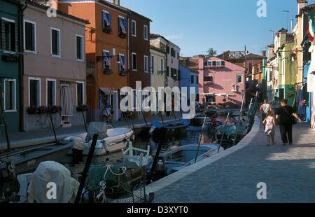 Fondamenta de Caranella, Burano, Venedig, Italien - Stockfoto