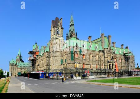 West-Block Parlament Gebäude Ottawa Ontario Kanada National Capital City - Stockfoto