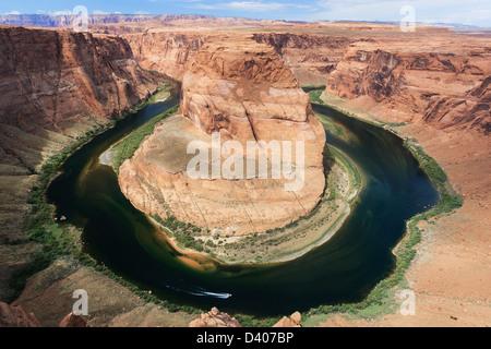 Der Horseshoe Bend mit den Colorado River in der Nähe von Page, Arizona, USA - Stockfoto