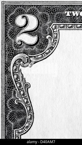 Nr. 2 von 2 Dollar Banknote, USA, 2003 - Stockfoto
