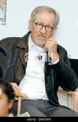 Pasadena, Los Angeles, USA. 27. Februar 2013. Regisseur Steven Spielberg besucht das 20. Jubiläum der Shoah Foundation - Stockfoto