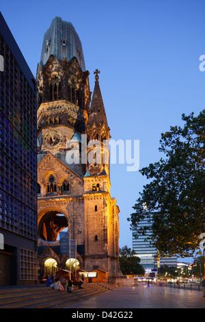 Berlin, Deutschland, die Kaiser-Wilhelm-Gedächtniskirche am Breitscheidplatz - Stockfoto