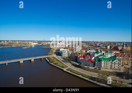 Besten Stadtbild von Vyborg vom Turm - Stockfoto