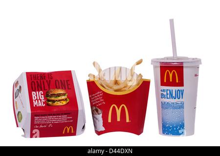 McDonalds-M-Burger mit Pommes frites Stockfoto, Bild: 20961601 - Alamy