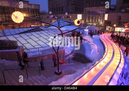 Kanada, Quebec, Montreal, Montreal de Lumière, winterfest, Place des Arts - Stockfoto