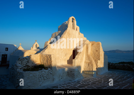 Griechenland, Kykladen, Mykonos Insel, Chora, Mykonos-Stadt, Panagia Paraportiani Kirche - Stockfoto