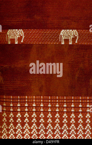 Indische Stoff mit Elefanten design - Stockfoto