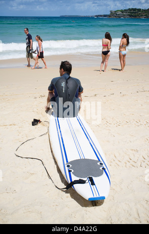 Sommer-Ansicht von Bondi Beach in Sydney, New South Wales in Australien - Stockfoto