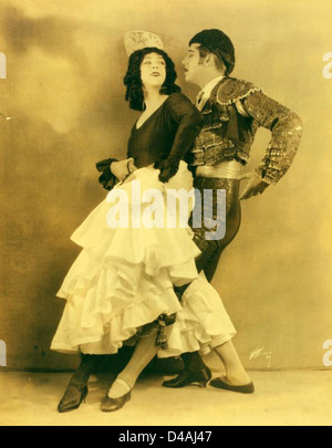 Ruth St. Denis und Ted Shawn in Cuadro Flamenco, spanische g... - Stockfoto