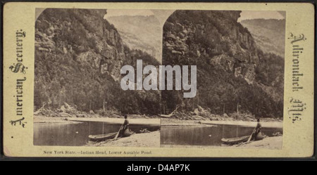 New York State. Indian Head, untere Ausable [Au Sable] Teich. - Stockfoto