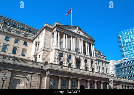 Fassade der Bank of England - Stockfoto