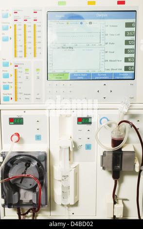 Die Nieren-Dialyse-Maschine fungiert als künstliche Niere ...