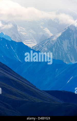 Blick auf die Alaska Range vom Highway Pass, Denali National Park, Alaska, USA