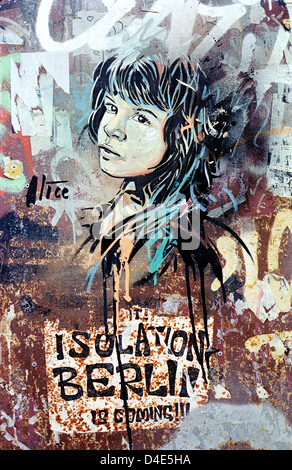 Streetart in Berlin. - Stockfoto