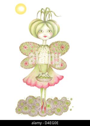 Grüne Tomaten-Prinzessin - Stockfoto