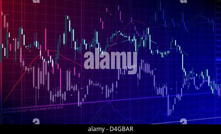 Analyze - Closeup auf LCD-Bildschirm zu vermarkten. - Stockfoto