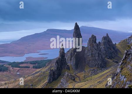 Old Man of Storr auf der Isle Of Skye, Schottland. Herbst (November) 2012. - Stockfoto