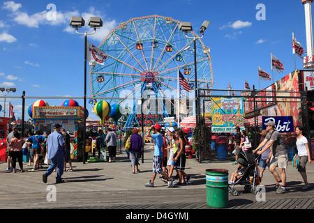 Promenade, Coney Island, Brooklyn, New York City, USA - Stockfoto