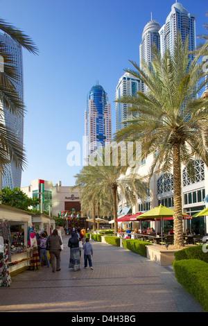 Dubai Marina, Dubai, Vereinigte Arabische Emirate, Naher Osten - Stockfoto