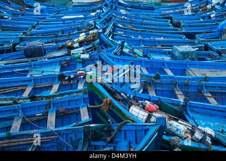 Blauen Boote im Hafen angedockt - Stockfoto